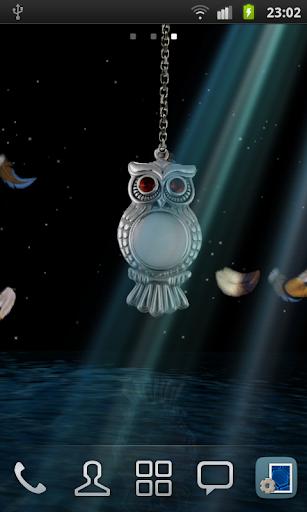 ... 3D Owl Pendant Live Wallpaper screenshot 5 ...