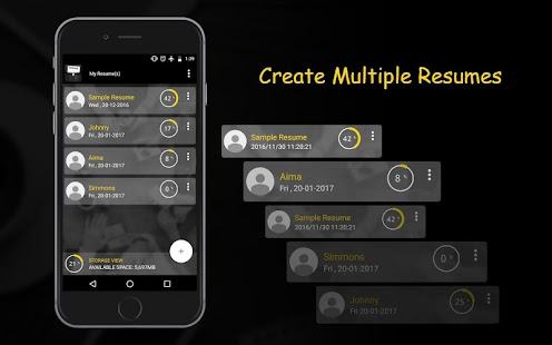 resume builder screenshot thumbnail resume builder screenshot thumbnail - Mobile Resume Builder