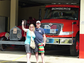 Photo: Andy is a volunteer fireman in Jasper, so a visit to the station was mandatory!