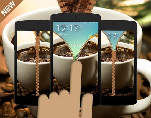 Delicious Coffee Zipper Locker