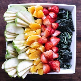 Kale Fruit Salad with Orange Vinaigrette