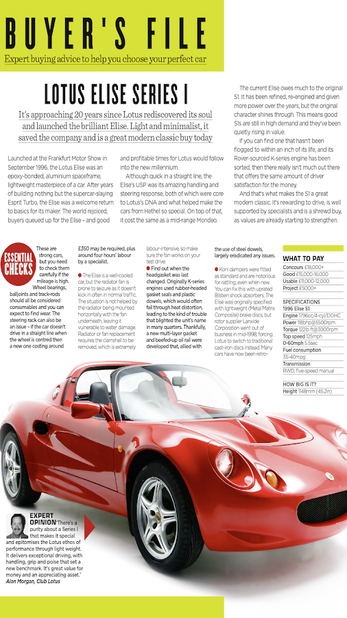 Modern Classics car magazine- screenshot