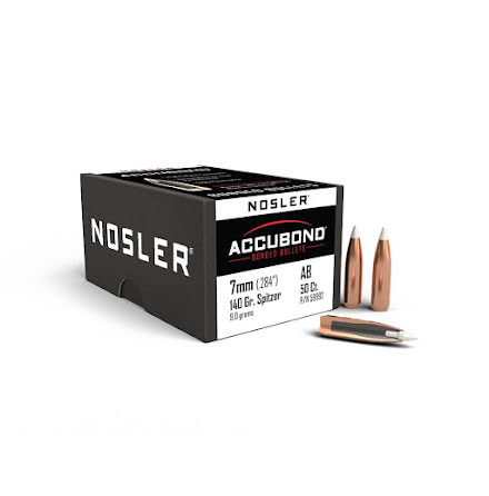 Nosler Accubond 7mm/ .284 140gr 50st