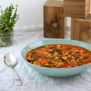 Vegetarian Minestrone Soup.