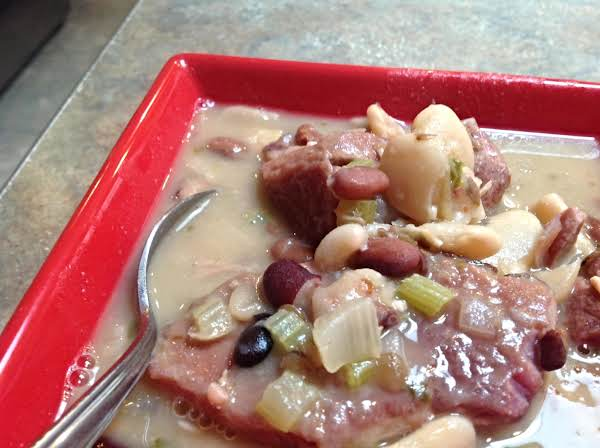 Smoky Ham & Variety Bean Soup Recipe
