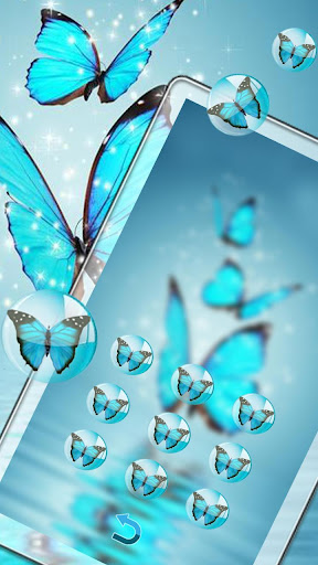 Butterfly blue gleam theme 1.1.3 screenshots 4