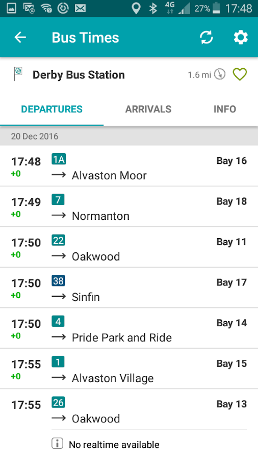 Arriva UK Bus App- screenshot