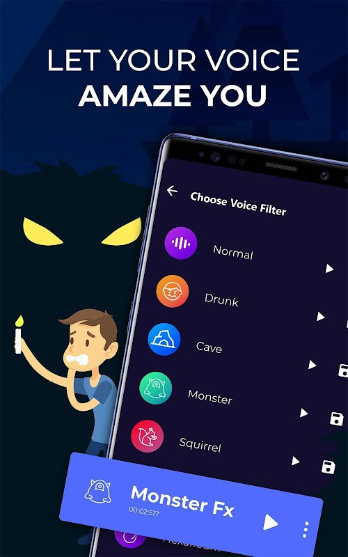Voice Changer – Amazing Voice with Audio Effects screenshots