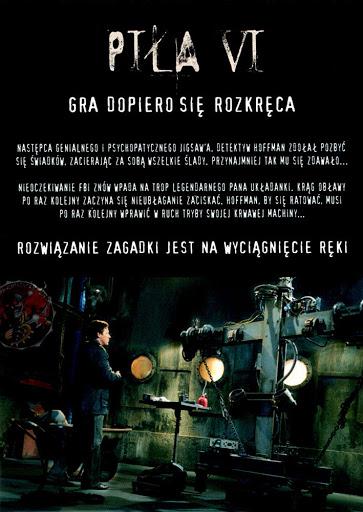 Tył ulotki filmu 'Piła VI'