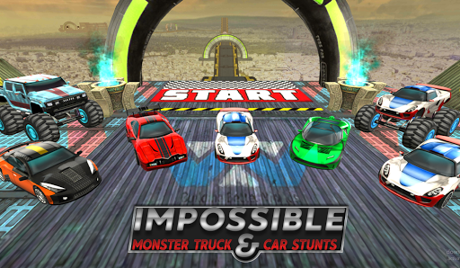 Impossible MonsterTruck & Car Stunts:Driving Games  captures d'écran 1