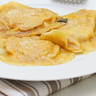 Pumpkin Ravioli Sage Butter
