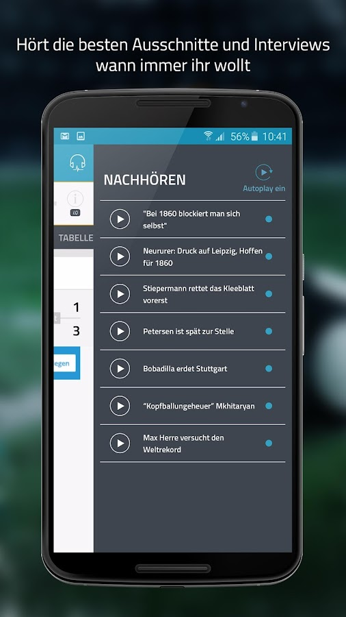 SPORT1.fm Bundesliga Radio- screenshot