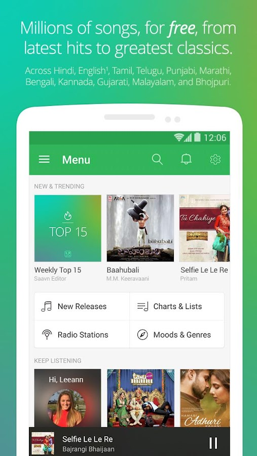Saavn Music & Radio - screenshot