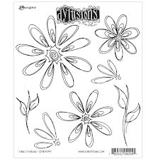 Dylusions Cling Stamps 8.5X7 - Fancy Florals