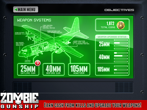 Zombie Gunship Free - screenshot