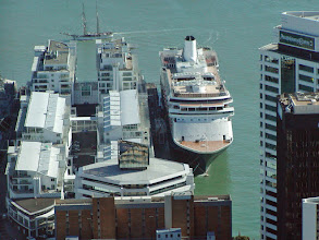Photo: The view of the ship from up top