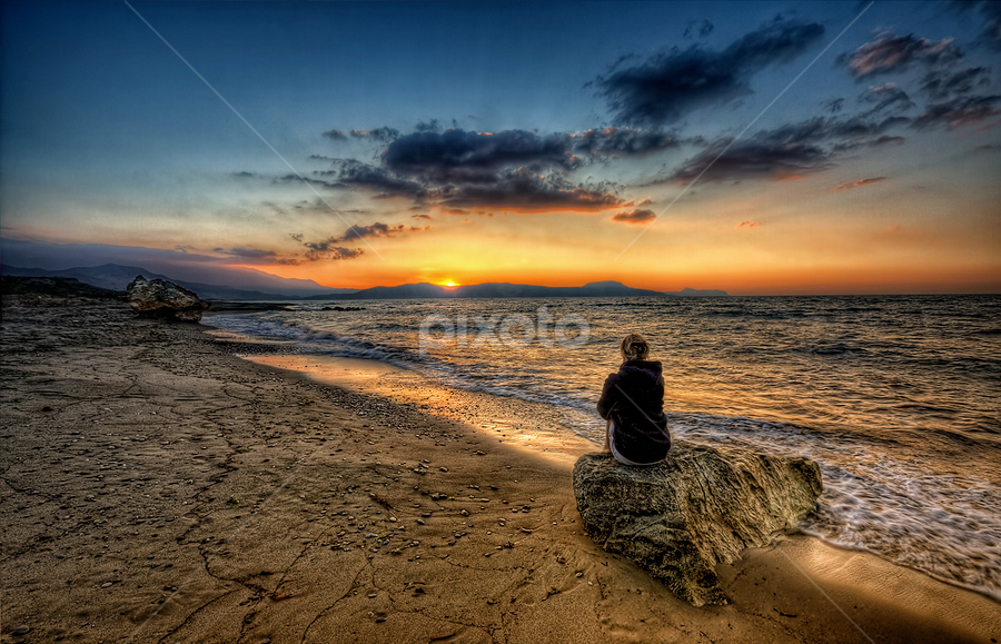 Crete by Pawel Tomaszewicz - Landscapes Travel ( clouds, sand, grecja, hdr, greek, greece, crete, beach, island, sky, chmury, kreta, sunset, sunrise, kriti )