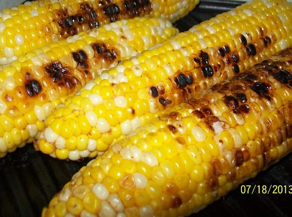 At this point you can grille the corn for about 10 minutes, depending on...
