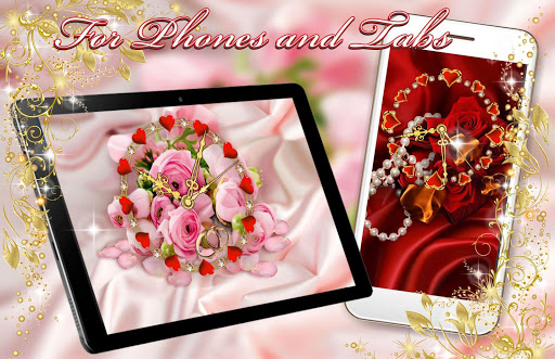 Roses Valentine Clock Live Wallpaper cheat hacks