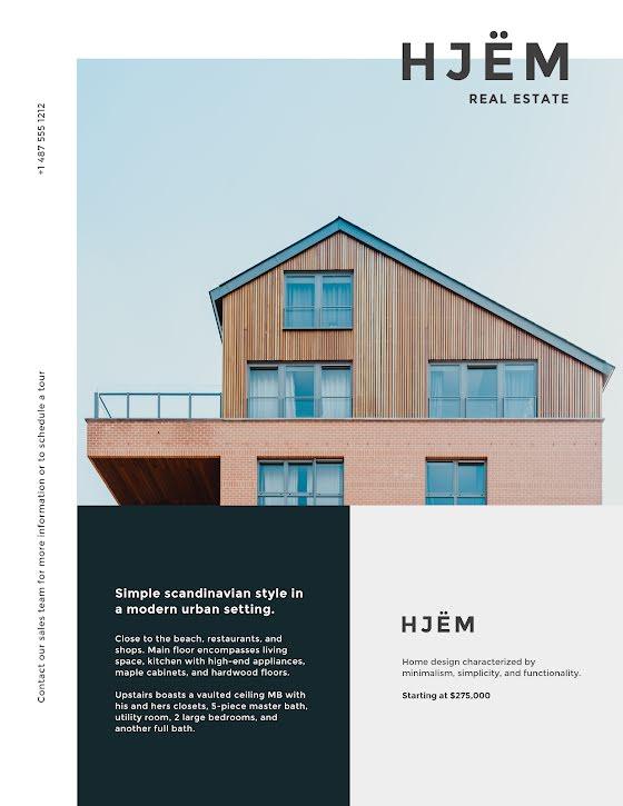 Hjëm Real Estate - Flyer Template