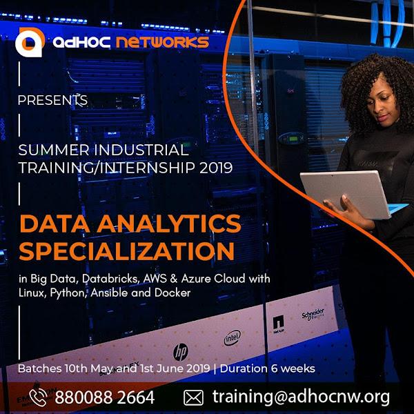 AdHoc Networks - Summer Internship cum Training