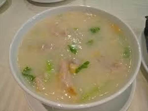 Chinese Ginger Congee (rice Porridge)