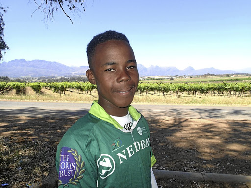 Hard work pays off: Sisipho Willy from Matthew Goniwe High School is prepared for the race. Picture: SUPPLIED