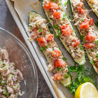 Healthy Zucchini Tuna Melts.