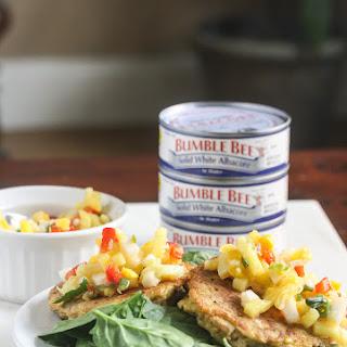 Easy Tuna Cakes with Fresh Mango Salsa.