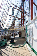 Photo: Aboard Russian Sedov, world's largest sail ship