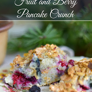 Simple Fruit and Berry Pancake Crunch.