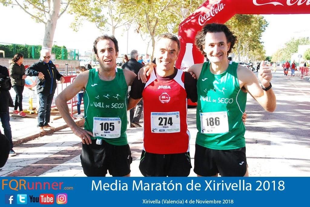 Podium Media Maratón de Xirivella 2018