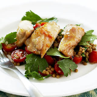 Marmalade Chicken with Lentil Salad.
