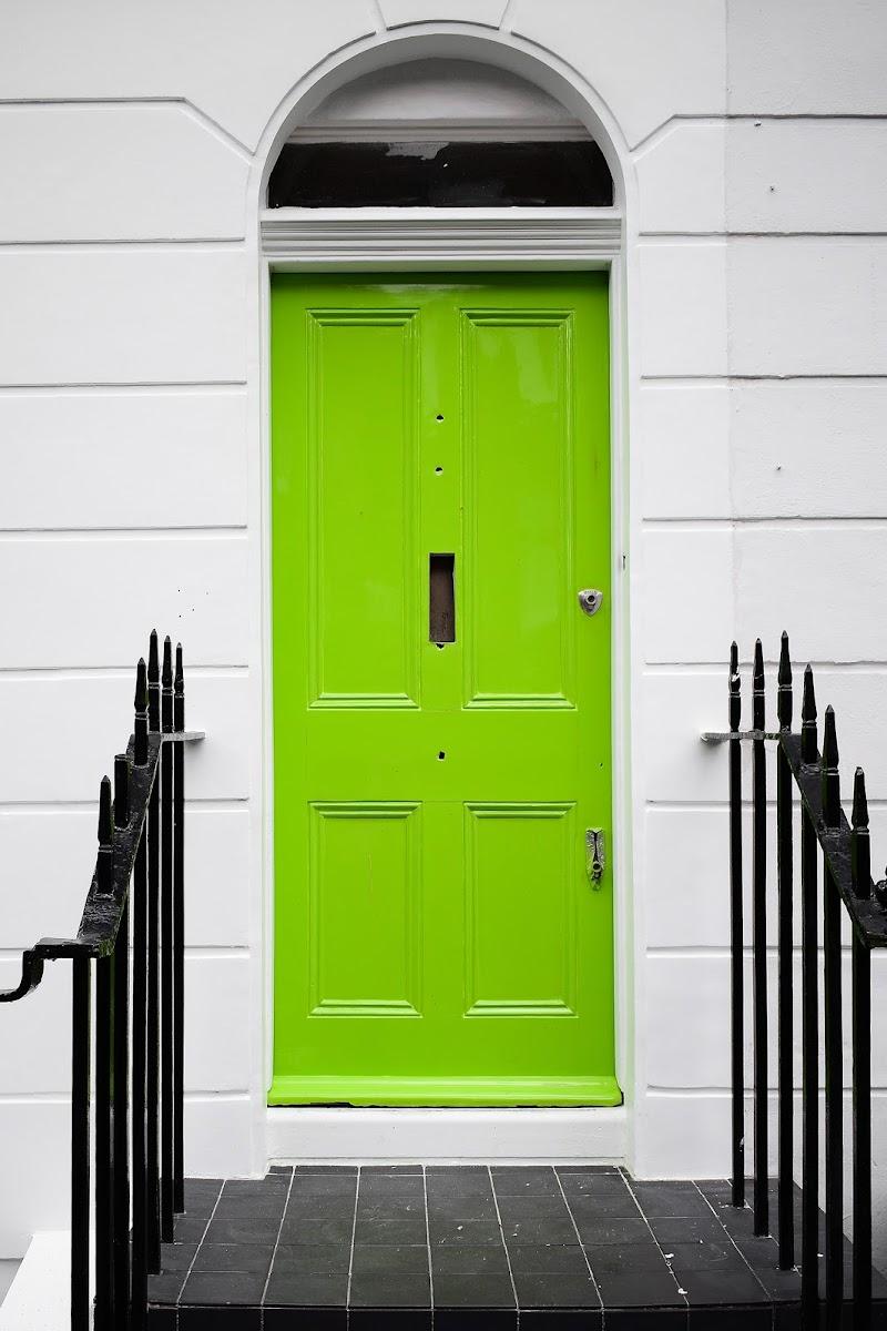 La porta verde, Chelsea, London di gloriapostuma