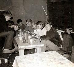 Photo: J.G. kamp Diever 1968 rechts: Gine lanjouw, Bé Hadderingh, Jannie Schiphouwer, Jan Kleef, Lambert Hollander, Bram Hadderingh, Jan Kamping