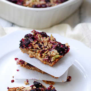 Blueberry Oatmeal Energy Bars