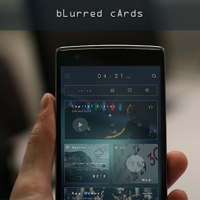 bLurred cArds for KLWP