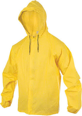 O2 Yellow Hooded Rain Jacket With Drop Tail alternate image 0