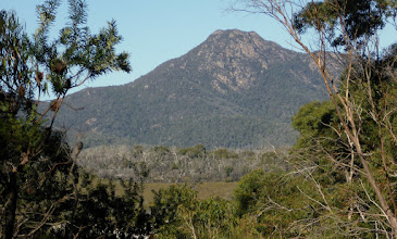 Photo: Mount Freycinet. We skirted very close to the top!