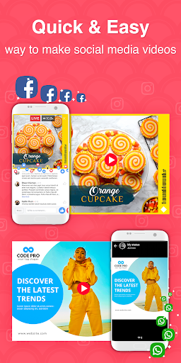 Social Media Video Post Maker, Post Creator 13.0 screenshots 1