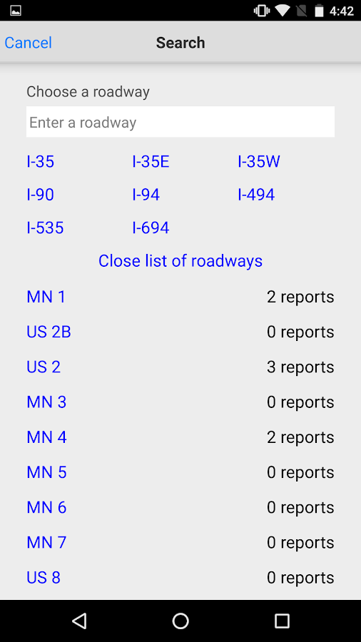 Minnesota 511- screenshot