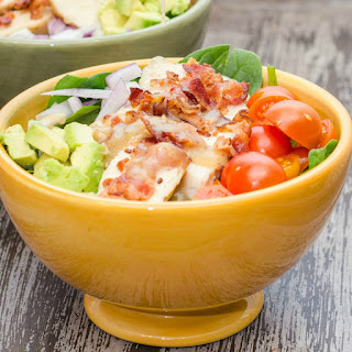 Easy Chicken and Bacon Spinach Salad