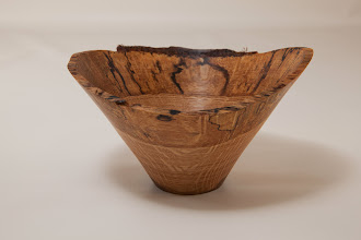 "Photo: Phil Brown 5 1/2"" x 3 1/2"" natural edge bowl [Tudor Place white oak]"