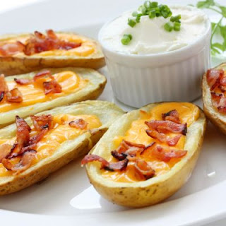 Cheesy Slow-Cooked Potato Skins