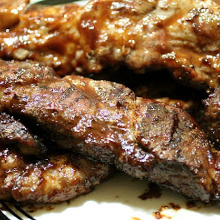 Grilled BBQ Country Style Ribs.