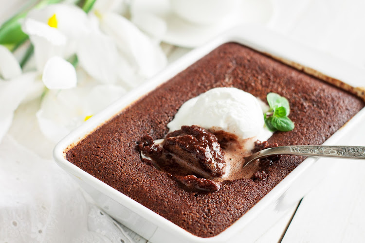 Who can resist a second helping of baked chocolate pudding?