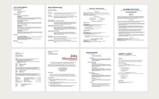 Free Resume Templates - Chrome Web Store