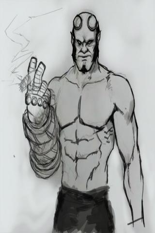 Draw Hellboy Easy Step