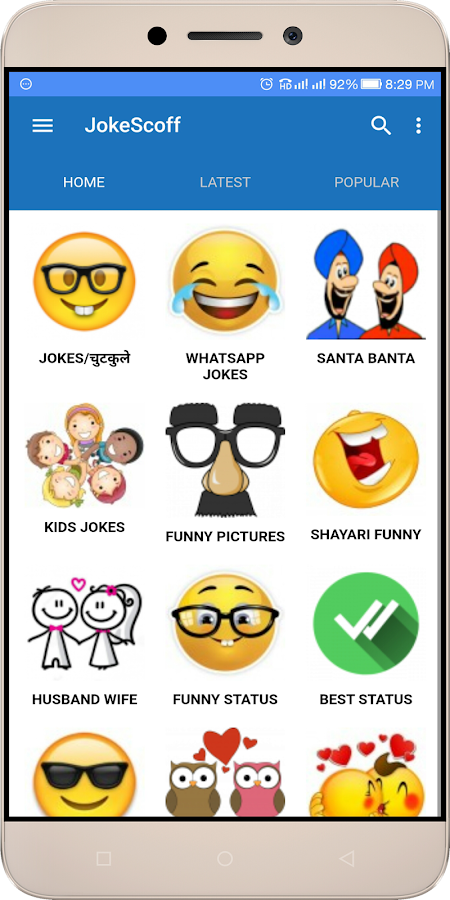 JokeScoff - Funny Jokes & SMS- screenshot