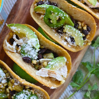 Fresh Corn, Black Bean and Avocado Tacos